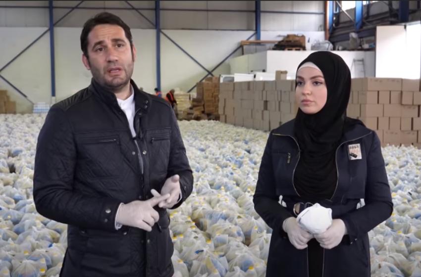 Elvis dhe Fatma 'përveshin mëngët' për të përgatitur pakot ushqimore! Zbulohet donatori i madh