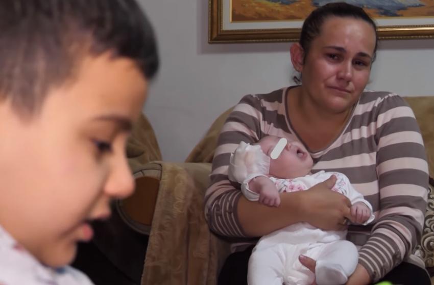 Lutja e një nëne: Vajza 2 muajshe ka ujë në kokë, s'kam para për ta shpëtuar