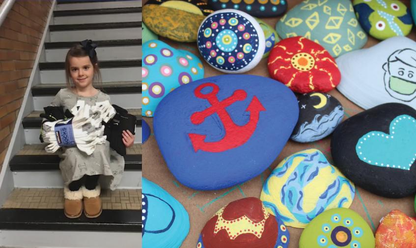 Historia e 7 vjeçares që ndihmoi të pastrehët duke shitur artin e saj me guacka