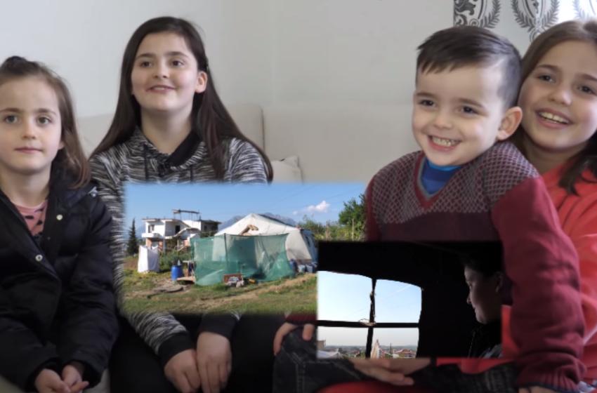 Lutja e shqiptarit me aftësi të kufizuara i nxorri nga 'terri' i çadrës! Si është sot familja me 4 fëmijë