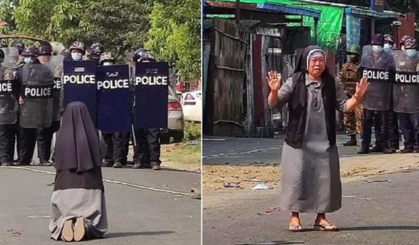 21 të vdekur në protesta, murgesha e moshuar u lutet në gjunjë policisë të mos qëllojnë