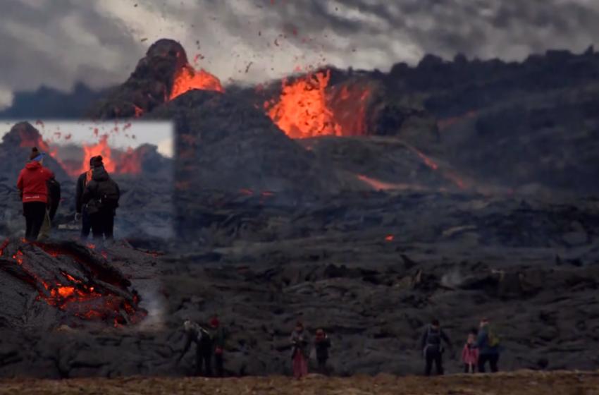 Pamje spektakolare nga vullkani në Islandë që vijon të mahnisë turistët