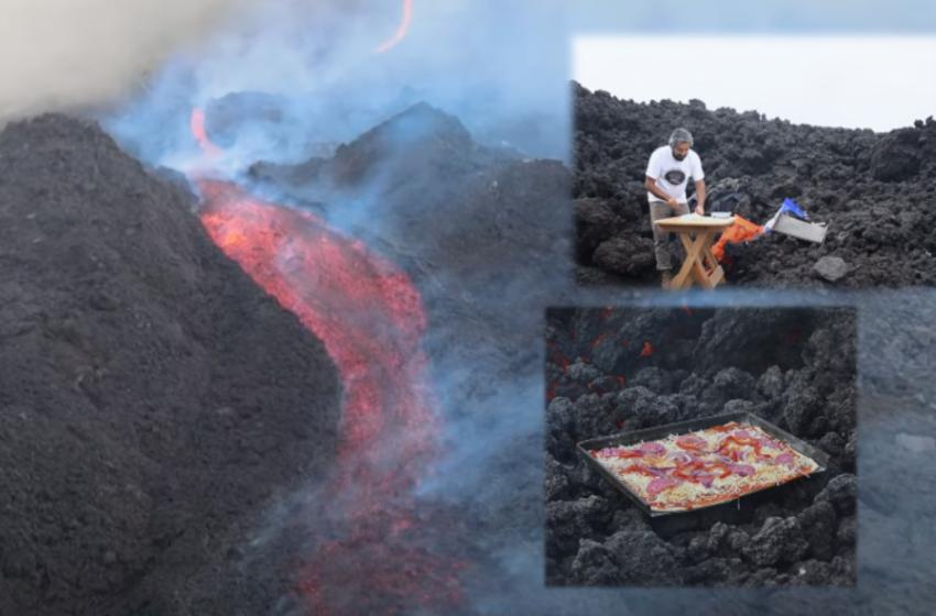 Të pjekësh pica në vullkan! Gjetja e pazakontë që është kthyer në 'magnet' për turistët