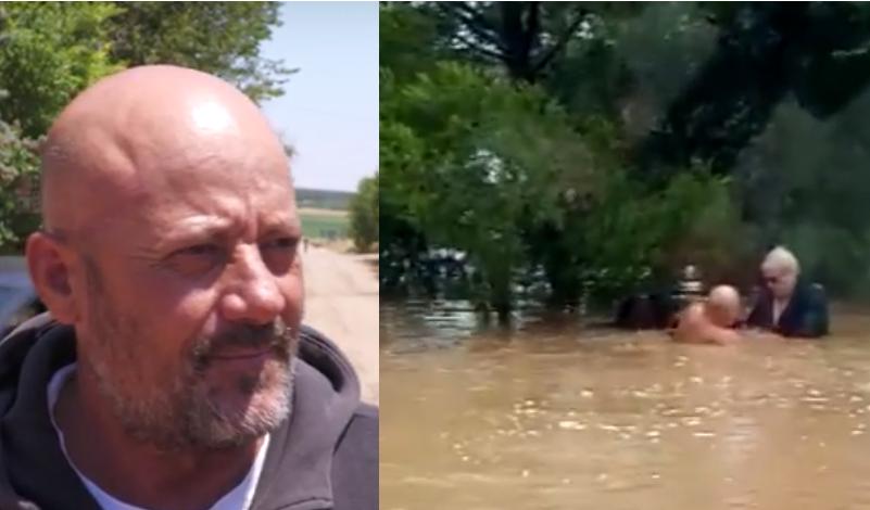 I moshuari rrezikonte të mbytej, momentet kur një punëtor shqiptar i shpëton jetën
