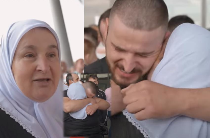 """""""Kur më tha po vjen, qava gjithë ditën"""" Emigranti shpërthen në lot, përqafon nënën pas 6 vitesh"""