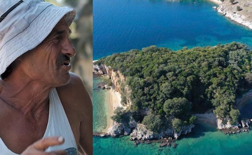 """""""Robinson Kruzoja"""" që jeton i vetëm prej 15 vitesh në ishullin e vogël të Shqipërisë"""