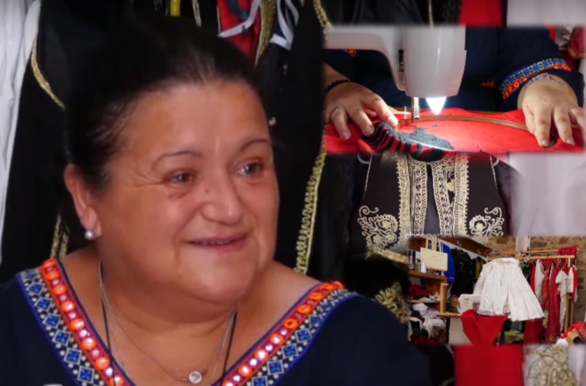 """""""Nëna ma mësoi zanatin"""" Të qëndisësh kostumet tradicionale: Të huajt i vlerësojnë më shumë"""