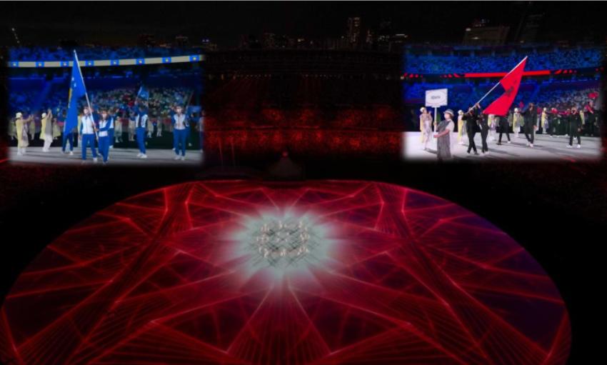 Flamujt e Shqipërisë e Kosovës valëviten në Tokio, pamjet nga ceremonia e Lojërave Olimpike