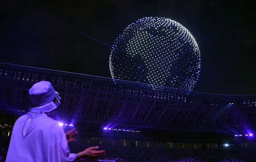 2 mijë dronë në unison, pamjet spektakolare nga Lojërat Olimpike