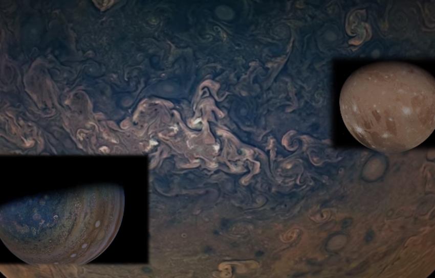 Pamjet spektakolare të Jupiterit dhe hënës më të madhe në sistemin tonë diellor