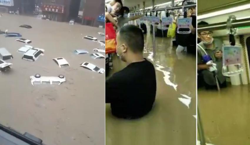 Njerëz të bllokuar në metro, makina që notojnë nën ujë! Kina goditet rëndë nga përmbytjet