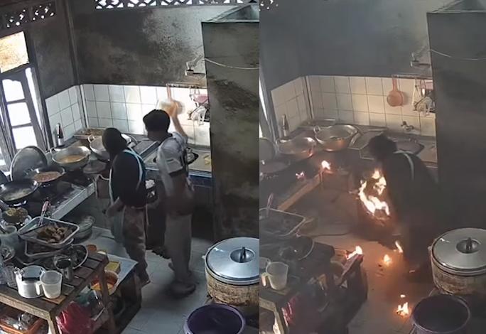 Guximi i një nëne! Gruaja shuan zjarrin në bombulën e gazit, shpëton familjen e saj