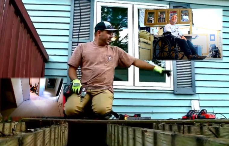 Jetonte i vetëm në karrige me rrota që prej 1995… fqinjët bëhen bashkë për t'i rinovuar shtëpinë