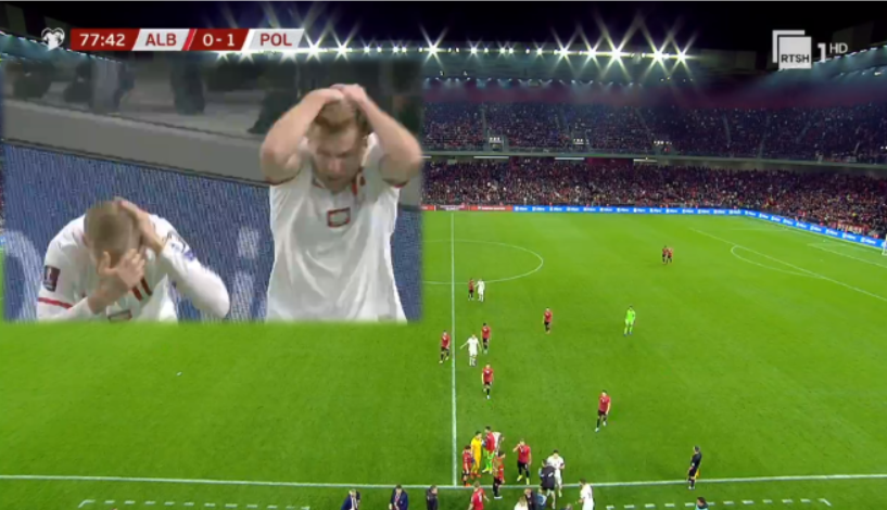 Polonia shënon gol ndaj Shqipërisë! Ndeshja ndërpritet pasi disa tifozë nisin të qëllojnë polakët